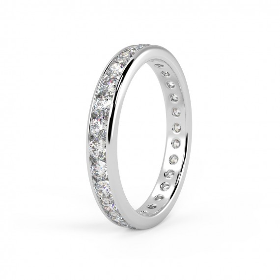 Clearance I Vs 1 50ct Round Diamond Full Eternity Ring In 18k